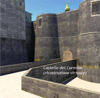 Castello del Carmine ricostruzione virtuale